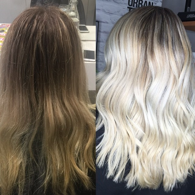 Babylights and Balayage for a Platinum Blonde with Paul Mitchell