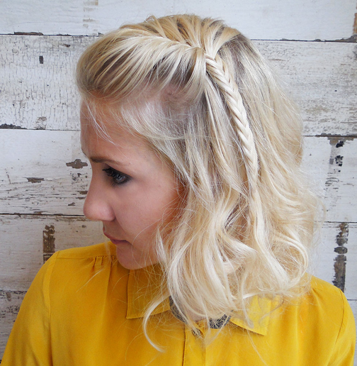 HOW-TO: Beach Wave Faux Bob With a Fishtail Braid