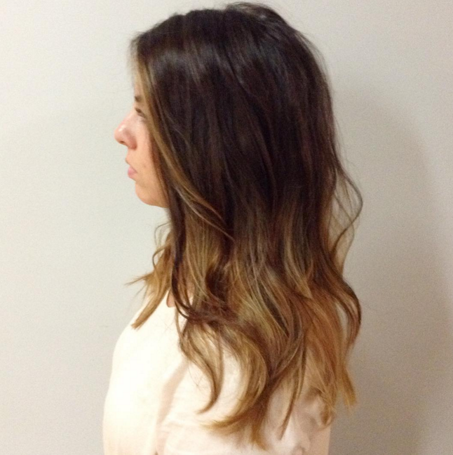 Finished Product Brunette Ombre
