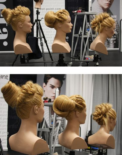 HOW-TO: 3 Easy Updos With Fishtails, Fingerwaves, and Backcombing