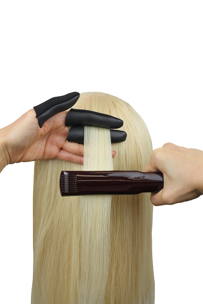 How to use with a flat iron