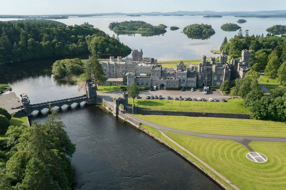 The Ashford Castle in Cong, County Mayo, Ireland.