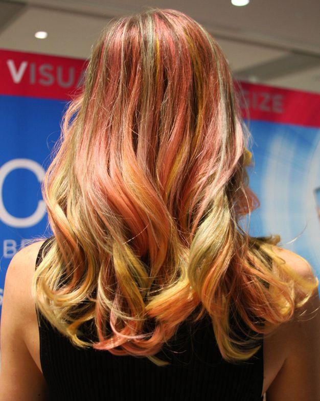 Galaxy hair color, back
