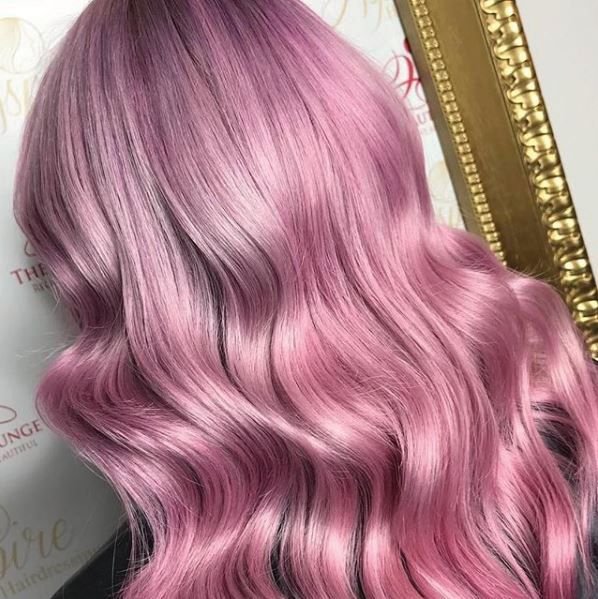 Get the formula for this beautiful cotton candy pink below!