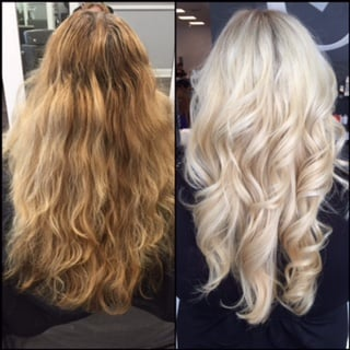 TRANSFORMATION: Grown-Out-Faded-Blonde-To-Modern-Metallic