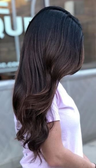 Bring on the deep tones! There's something so magical about a dark brunette hair color, and this nails it.