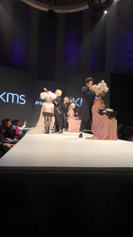 The KMS artists present fresh looks on stage during Hairplay in NYC.