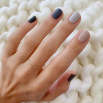 Goldstein used hues from Essie's Serene Slates collection for this monotone mani.