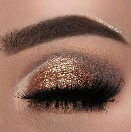 """@nikki.makeup fills in sparse brow hairs with GrandeBROW fill in """"Dark Brown."""""""