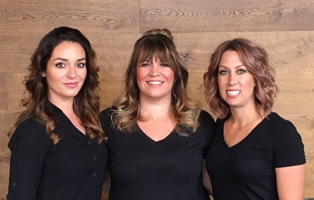 Raimonda Rushiti, Brittney Kurutz and Kristin Knetchges of Kismet Salon in Madison, Wisconsin.