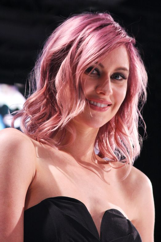 Rose gold hair color, front