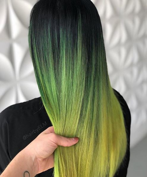 This green and yellow melt is a stunner.