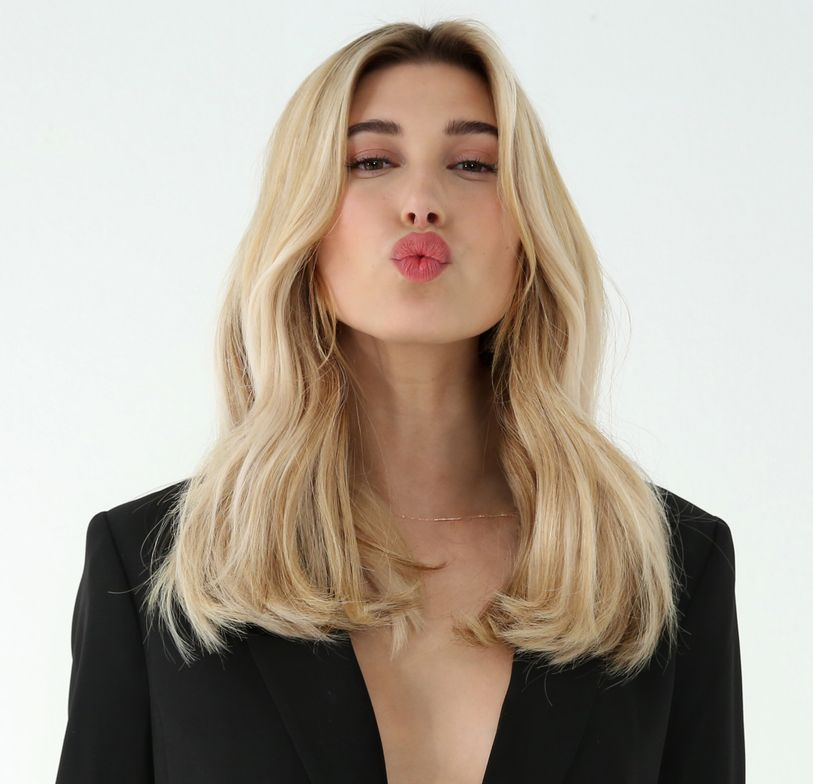 L'Oréal Professionnel's new spokeswoman, Hailey Baldwin, shows off the Nude beige shade.