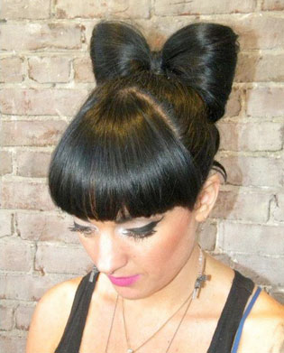 The hair bow that started all the posting on MODERNs Facebook by James Joseph Salon!