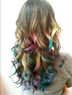 Hair Chalking: How-To Get the Dipped Dyed Look