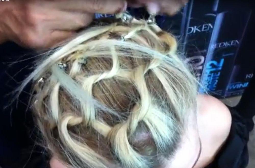 Sam Villa shows how to create a hair net.