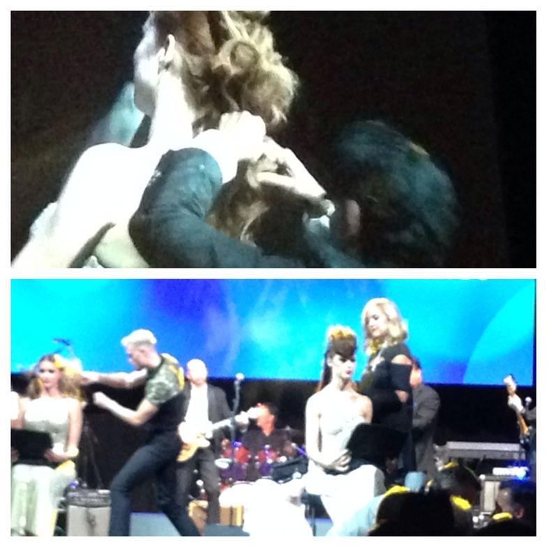 While Goddard and his industry band played behind them, three industry leaders took the stage for a live hair styling demonstration.