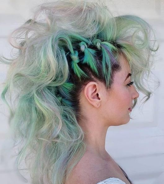 This green style has us feeling young, wild and free.