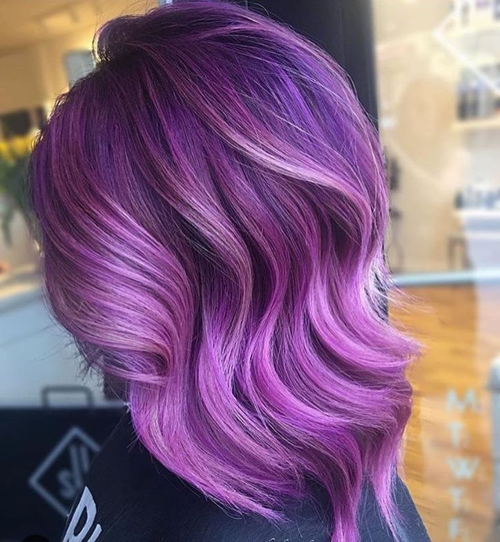 @hairbymonika.q's pinky purple stunner.