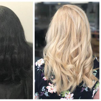 10 Years of Black Box Color to Beautiful Blonde