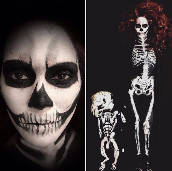 Make no bones about it, Halle Berry makes one hot (and spooky) skeleton mama! Hair by Castillo (@castillo_13) and makeup by Lottie S. (@lotstar).