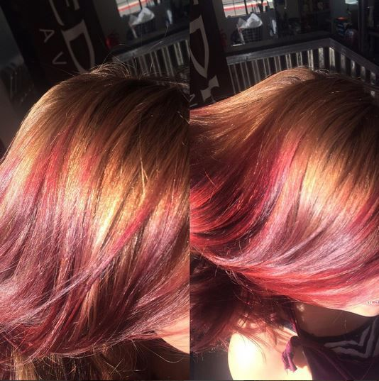 Hand-Pressed Color on Caydance, Teen Vogue model.