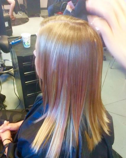 Hand-Pressed Color in one of Marvici's classes using Redken Shades EQ 09P.