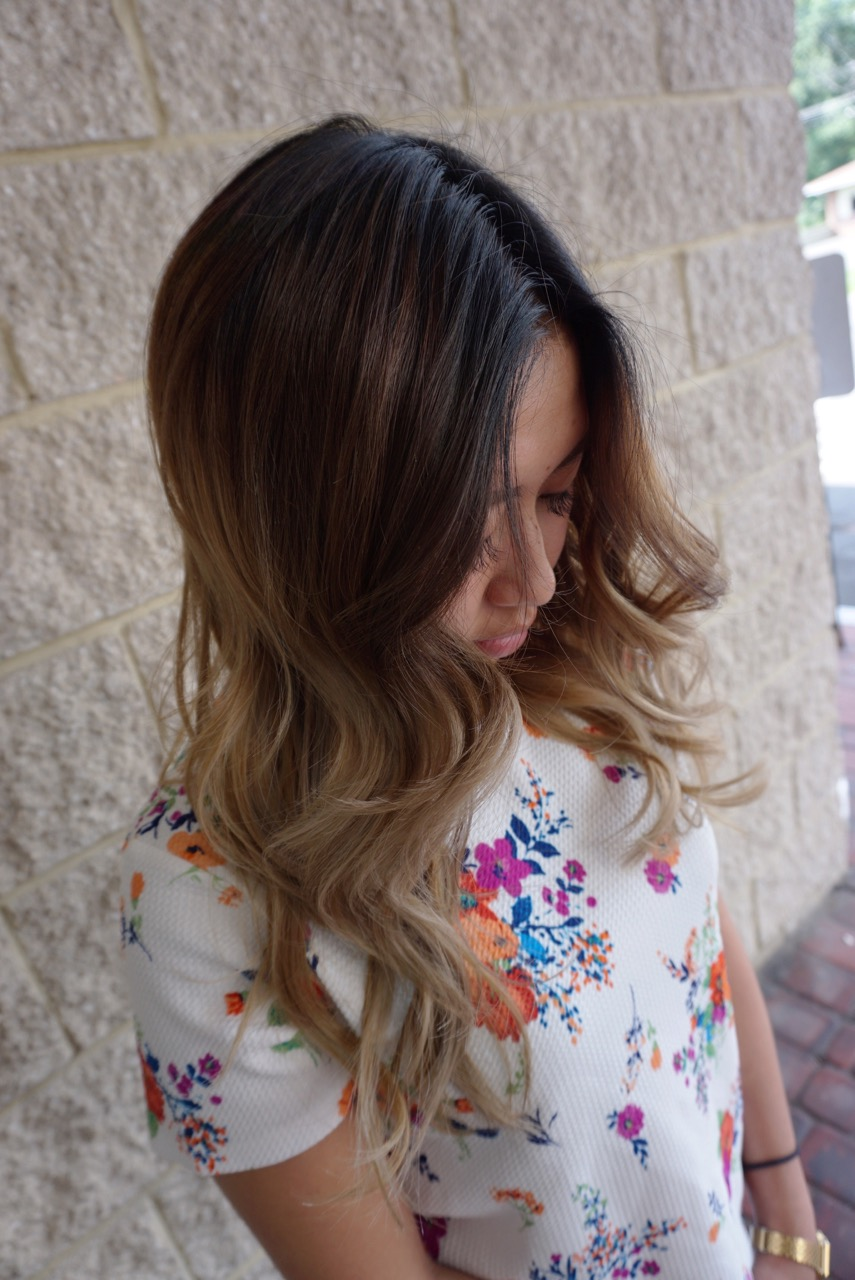 To curl her hair we used Paul Mitchell Hot Off The Press Thermal Protectant Hairspray, and our Paul Mitchell Express ION XL iron.