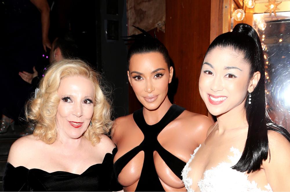 Executive Producers Michele Elyzabeth (left) and Pamela Price (right) with Kim Kardashian West