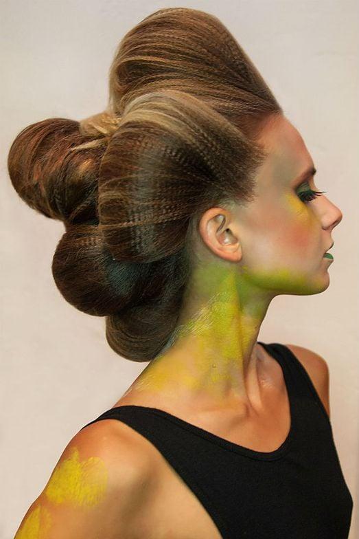 Kehana models the Headlines team's  interpretation for Art is Alive. Hair by Genesis Block; Makeup by Cristian Alfonso.