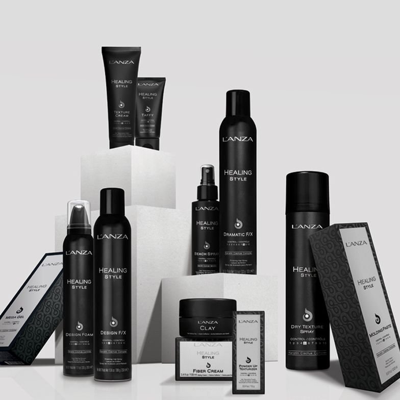L'ANZA's new Healing Style line with new packaging.