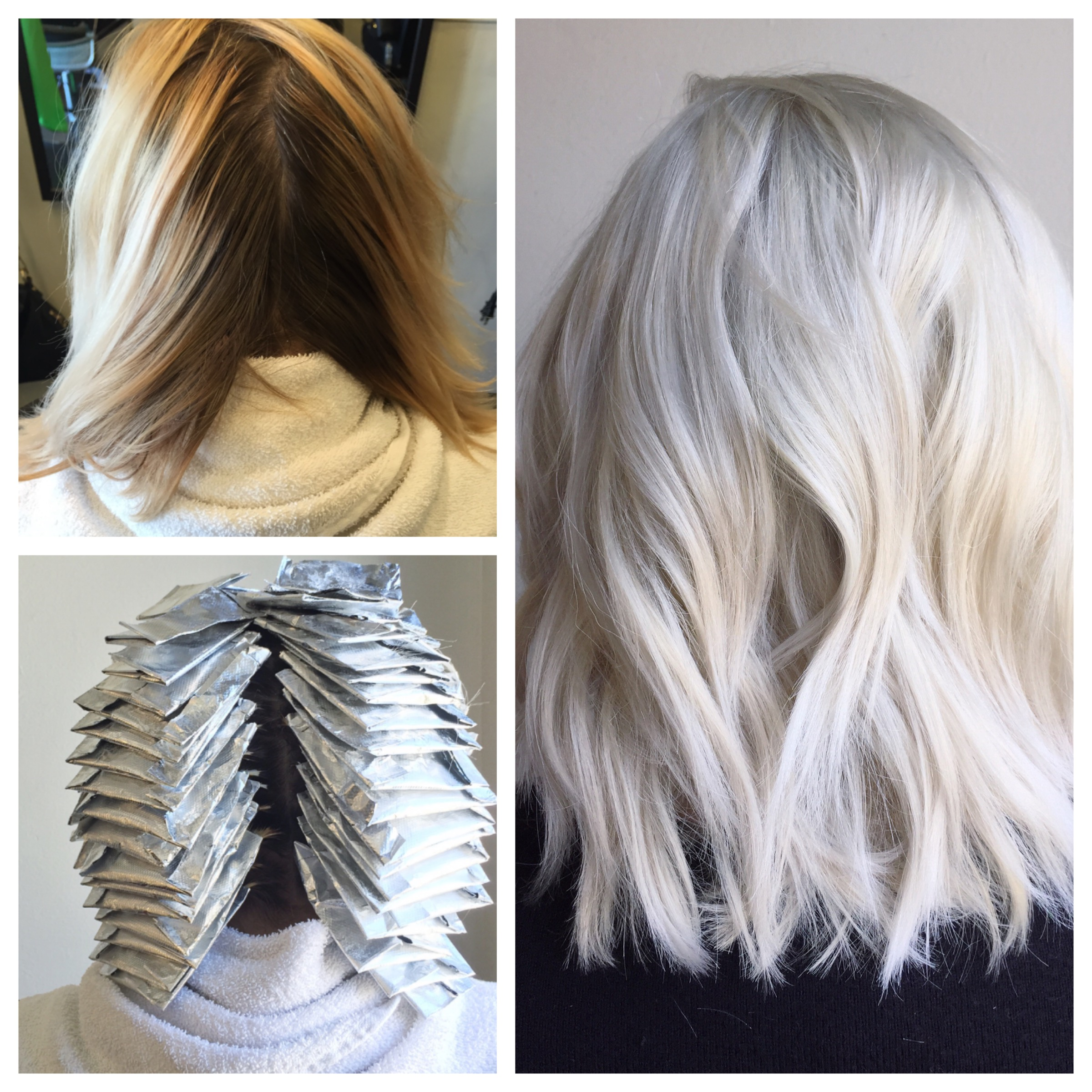 TRANSFORMATION: From Box To Balayage Blonde To Platinum