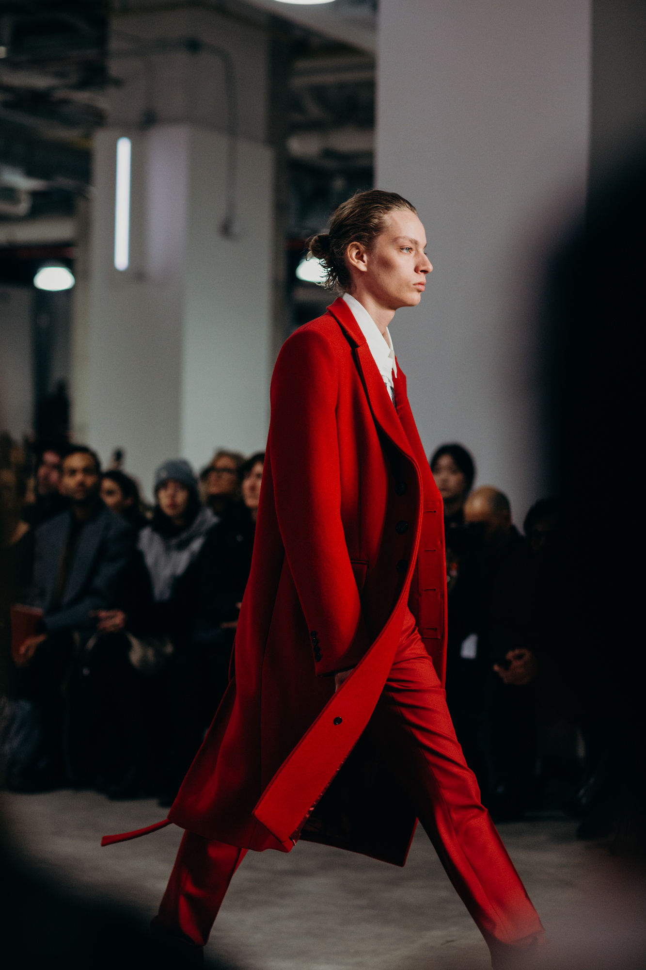 A finished look from Helmut Lang F/W 2019 shown during NYFW