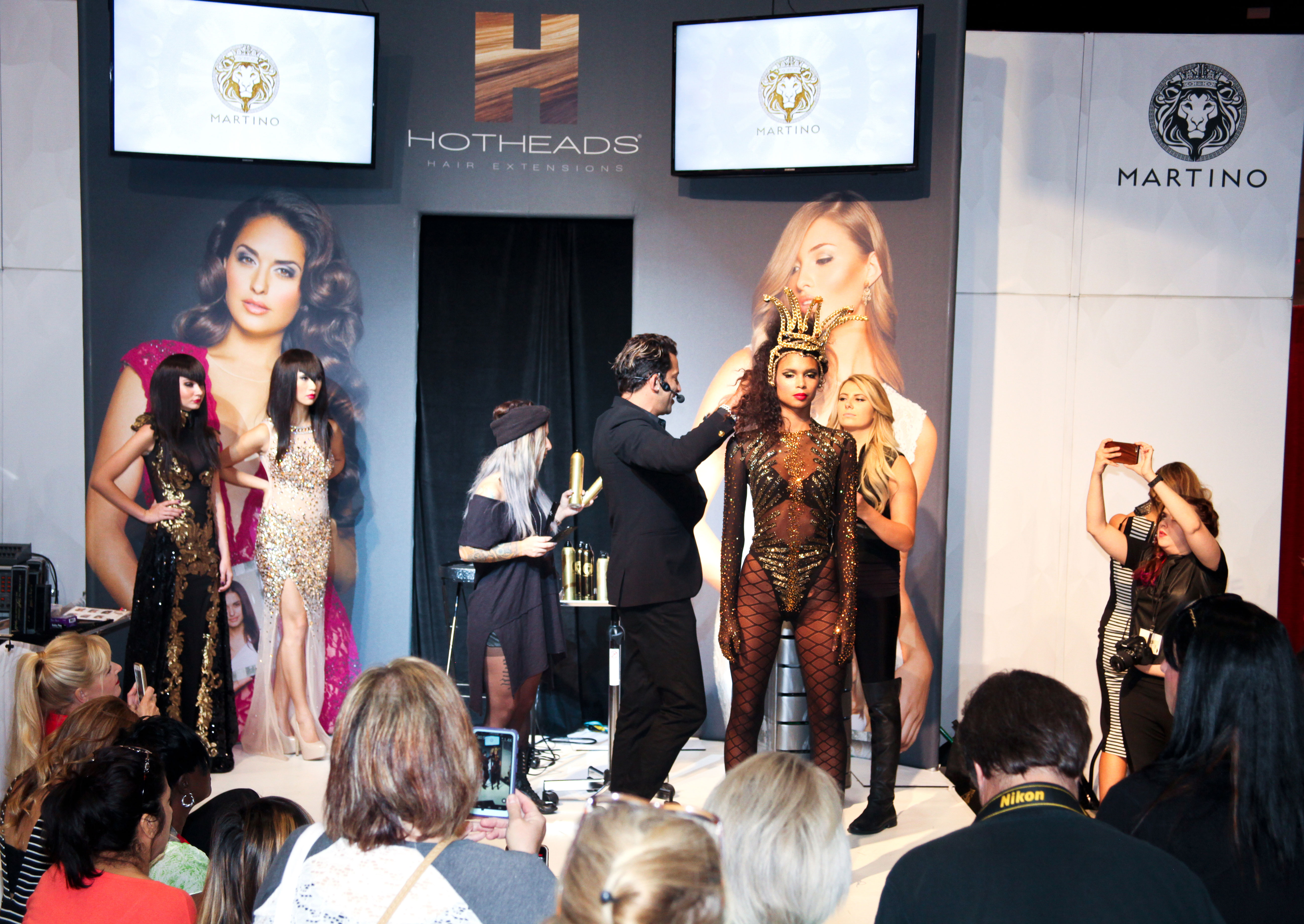 Hotheads Hair Extensions at last year's show.  (photo credit: Premiere Orlando) Premiere Orlando