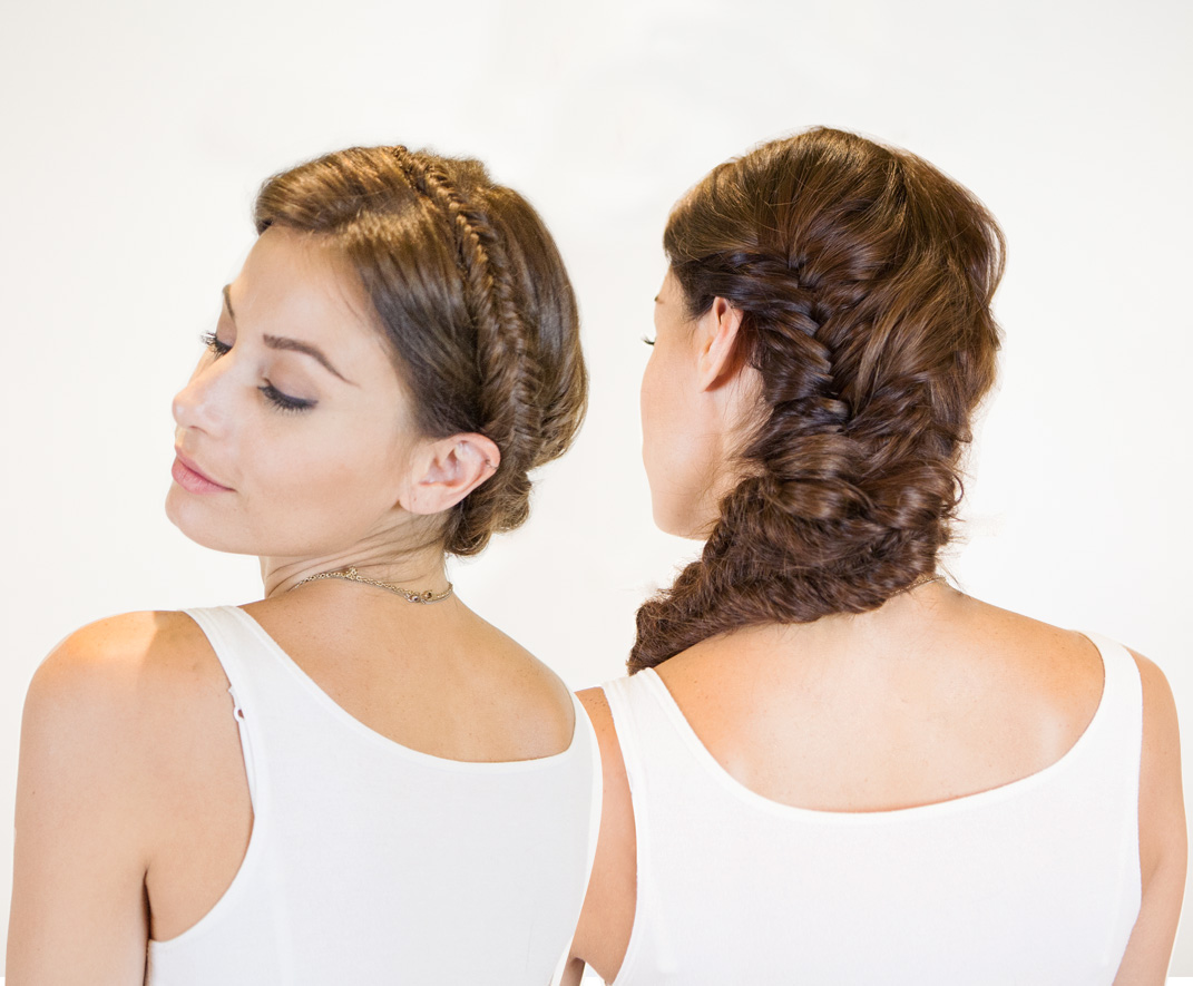 VIDEO: Convertible Milkmaid and Double Fishtail Braids
