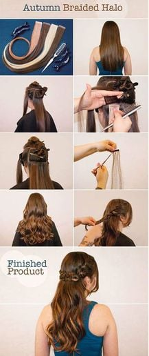 How To: Braided Halo with Tape-In Extensions For Color and Volume