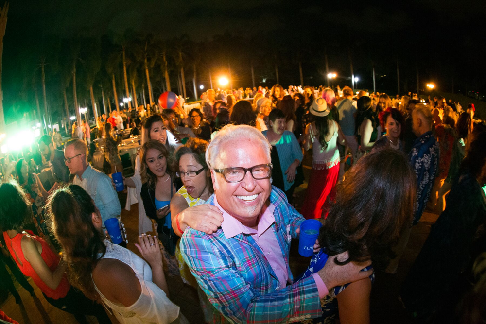 "Education, inspiration, networking and FUN! Here Frank Gambuzza dances with the members at the ""Beach Party."""