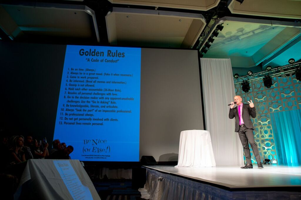 "Winn Claybaugh presented the ""Golden Rules."""