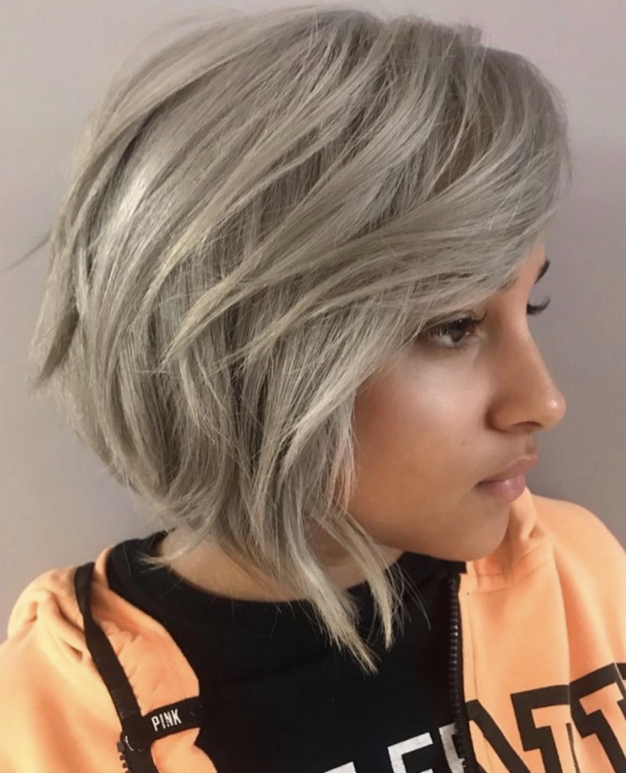 TRENDING HAIR: Icey Tones, Textured Cut