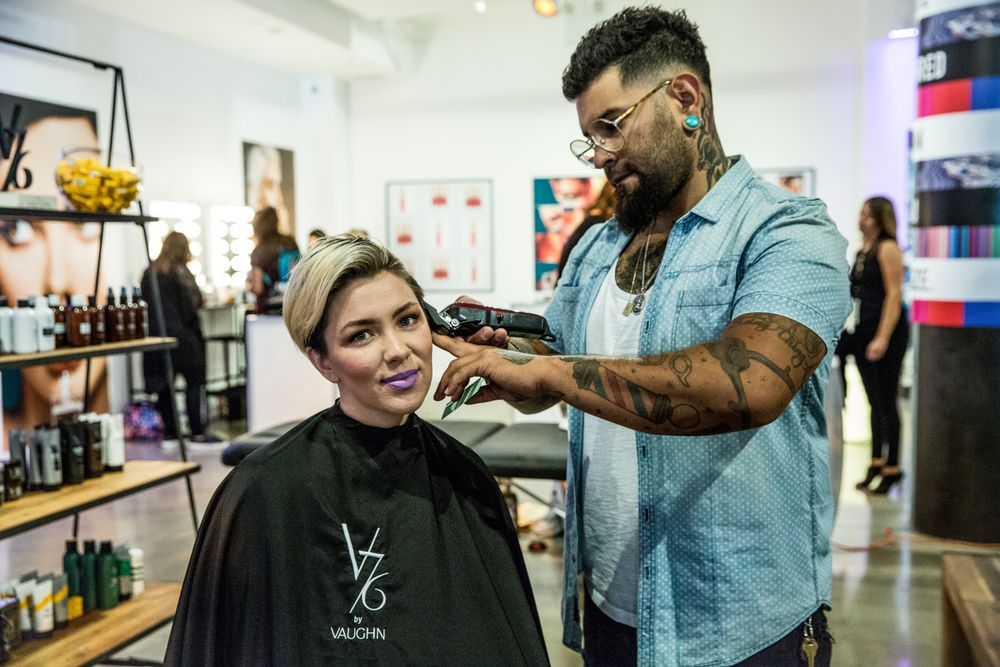 Visitors to V76 by Vaughn's (@v76) space enjoyed a haircut and on-site tattoos