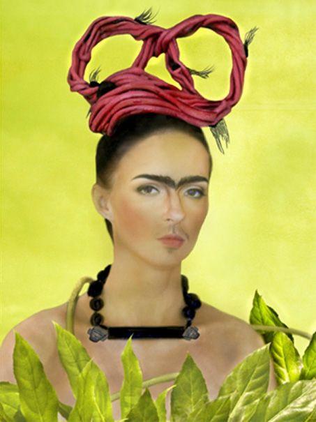 Photographic interpretation of Frida Kahlo Self Portrait with Braid, 1941, by Franco De Simone, 2016. Hair/Artist/Photographer: Franco De Simone; Makeup: Francis Boudreau; Costumes: Frank Rothery