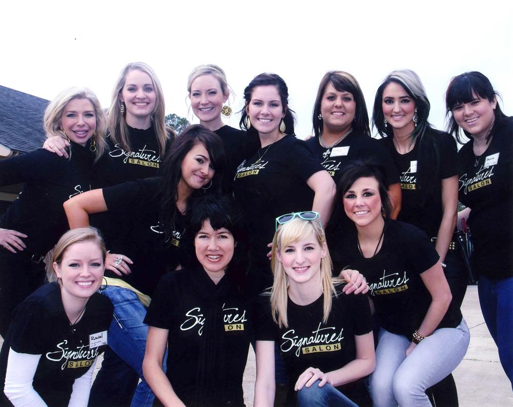 Staff of Signature Salon in Lake Charles, Louisiana