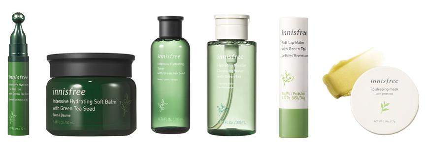 Green Tea Enhances Innisfree Skin Care Collection