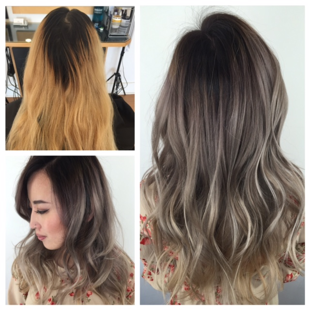Transformation To Rooty-Violet-Silver-Blonde