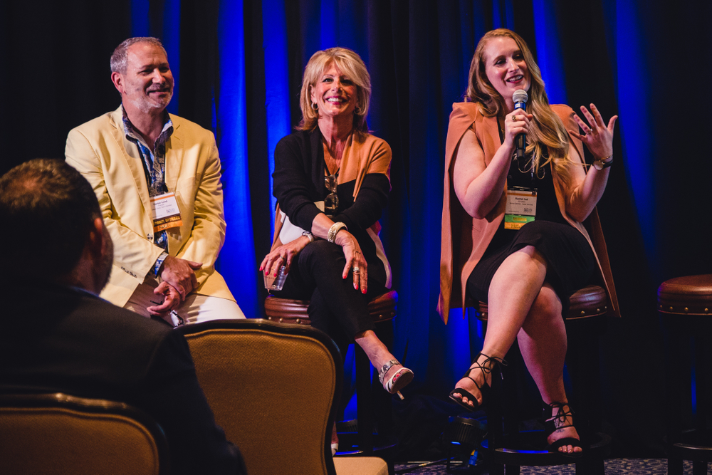 <p>Time is the Ultimate Luxury panelists Connor Lund, Framesi; Deb Swam, Nufree Hair Removal Systems, and Rachel Judd, JCP Salon discuss quick service ideas to improve revenue.</p>