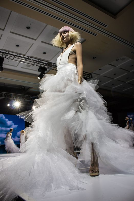 On-stage presentations feature all kinds of looks, from simple to avant garde.