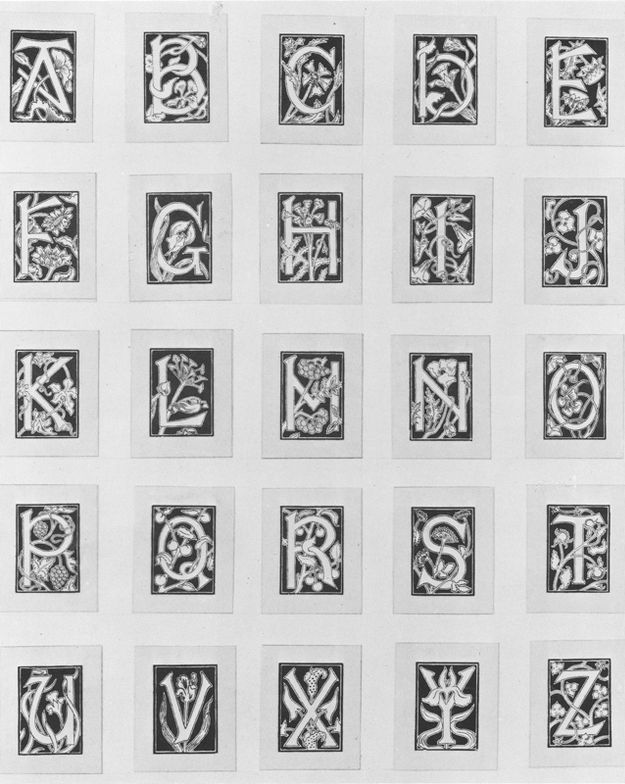 "For those into graphic art, check out this alphabet with ornamental letters used in the 1906 issue of Durendal Magazine from the book – ""La Belle Époque"": Masterworks by Combaz, Leo Jo and Livemont"