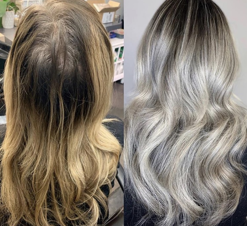 MAKEOVER: Gray, Faded and Damaged to Magnificent Ash Blonde ...