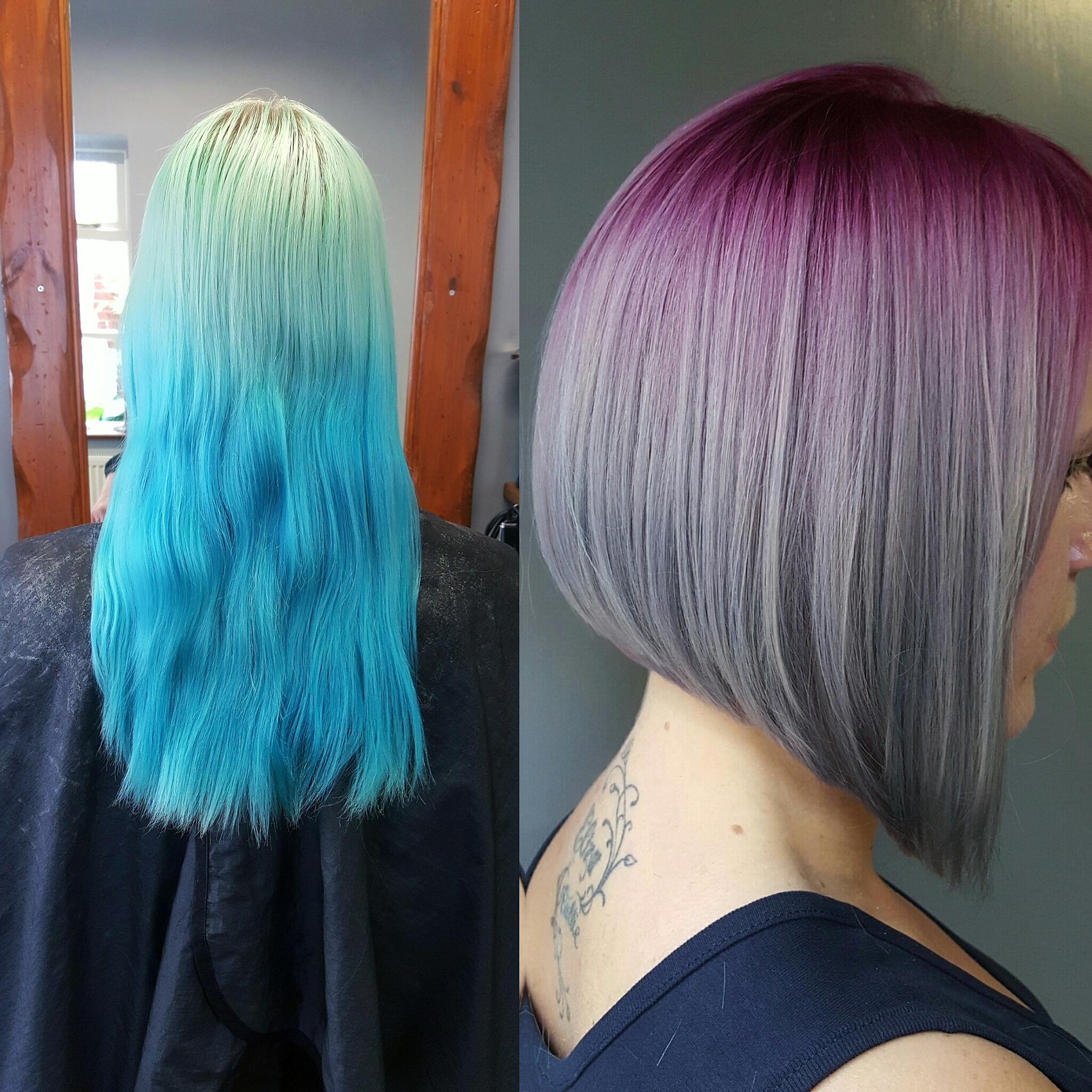 TRANSFORMATION: Aqua To Purple/Silver Sombre