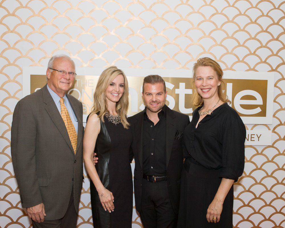 MODERN'S Gregg McConnell, Amiee Thomas, vice president of salon at JCPenney,  Nick Stenson, the Senior Creative Director The Salons by InStyle, Anne Moratto from MODERN SALON.